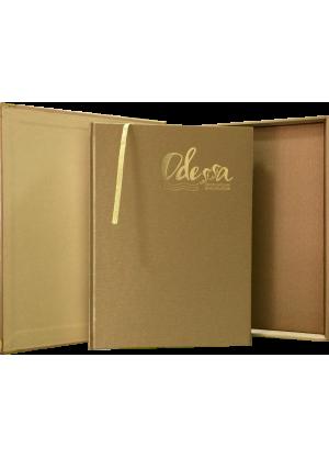 Одесса: фотоальбом в подарочном золотом футляре